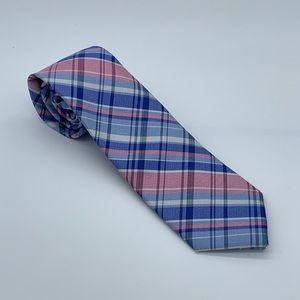 Tommy Hilfiger Pink Large Multi-Plaid Tie